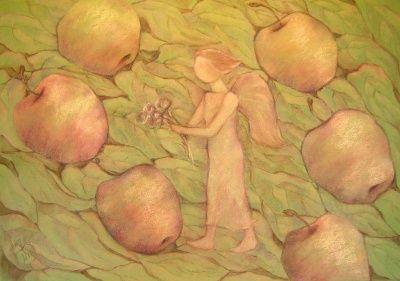 Ангел в яблоках